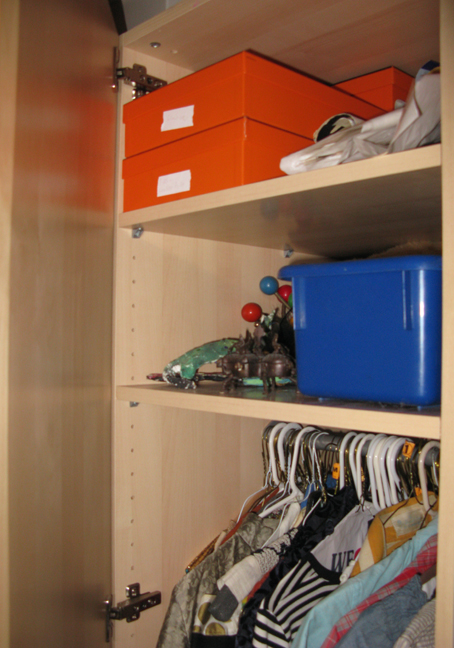 Hermes Boxes in Closet