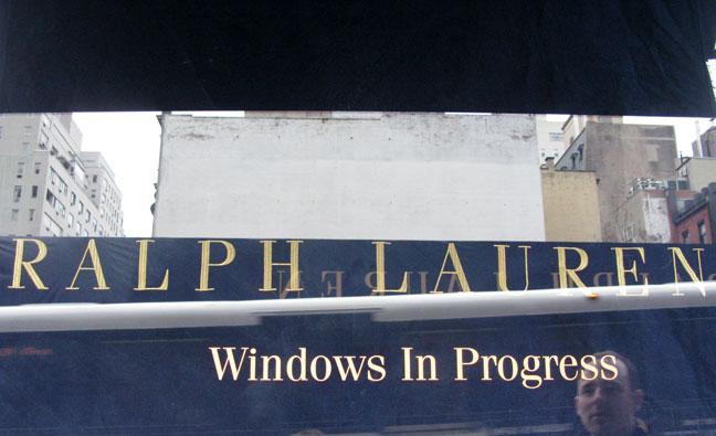 Ralph Lauren windows in progress